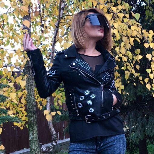 jacheta, jacheta piele, jacheta piele eco, geaca piele, jacheta dama, jachete, haine, haine dama, unique fashion,