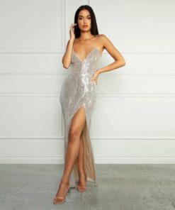 rochie, rochie lunga, rochie paiete, rochii, rochie eleganta, haine, haine dama, unique fashion,