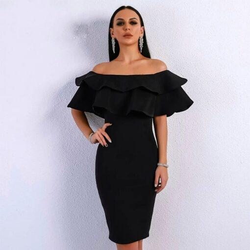rochie, rochie midi, rochie neagra, rochii, haine, haine dama, unique fashion,