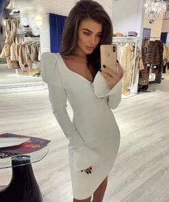 rochie, rochie scurta, rochie alba, rochie eleganta, rochii, haine, haine dama, unique fashion,