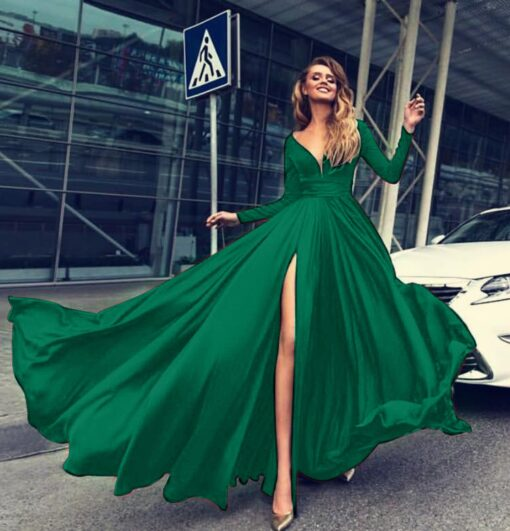 rochie, rochie lunga, rochie eleganta, rochie de ocazie, rochii, haine, haine dama, unique fashion,