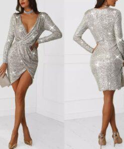 rochie, rochie scurta, rochie paiete, rochie eleganta, rochii, haine, haine dama, unique fashion,