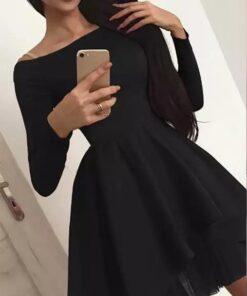 rochie, rochie scurta, rochie neagra, rochii, haine, haine dama, unique fashion,
