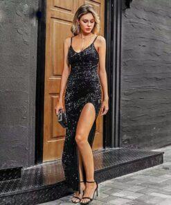 rochie, rochie lunga, rochie paiete, rochie eleganta, rochii, haine, haine dama, unique fashion,