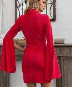 rochie, rochie scurta, rochie rosie, rochii, haine, haine dama, unique fashion,