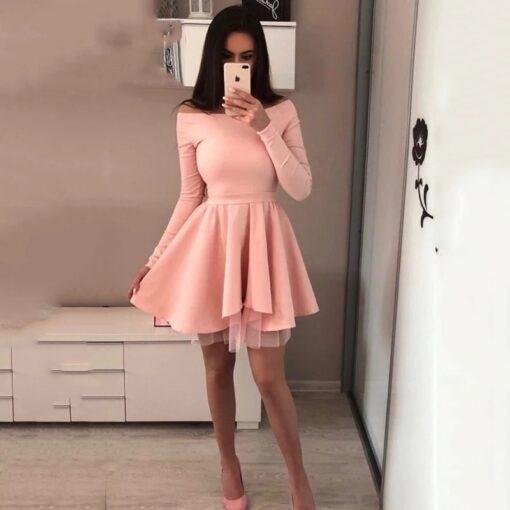 rochie, rochie scurta, rochie roz, rochii, haine, haine dama, unique fashion,