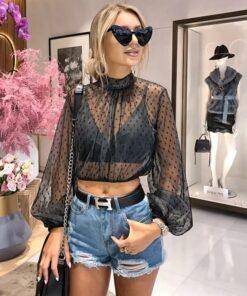 bluza dama, camasa dama, bluza eleganta, bluza tulle, bluze dama, haine dama, unique fashion,