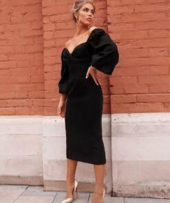 rochie, rochie midi, rochie eleganta, rochii, rochii de seara, haine, haine dama, unique fashion,