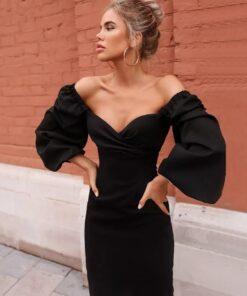 rochie rochie, rochie midi, rochie eleganta, rochii, rochii de seara, haine, haine dama, unique fashion,