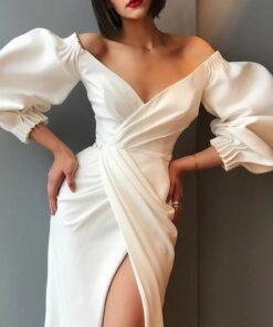 rochie, rochie lunga, rochie alba, rochii, haine, haine dama, unique fashion,