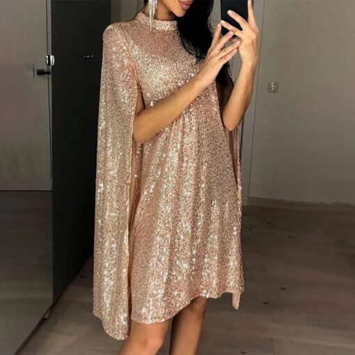 rochie, rochie aurie, rochie paiete, rochie eleganta, rochii, haine, haine dama, unique fashion,