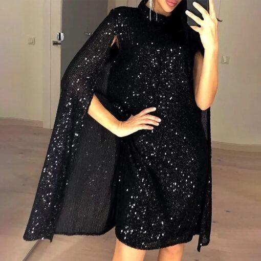 rochie, rochie neagra, rochie paiete, rochie eleganta, rochii, haine, haine dama, unique fashion,