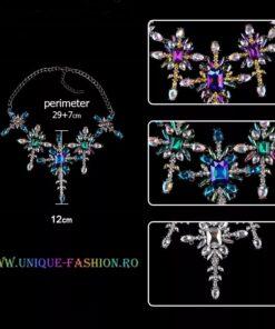 colier, colier dama, colier cristale, colier statement, accesorii dama, haine dama, unique fashion