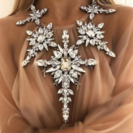 colier, colier dama, colier cristale, colier statement, accesorii dama, bijuterii, haine dama, unique fashion