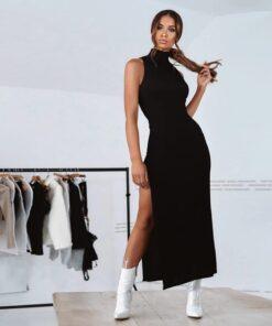 rochie, rochie lunga, rochie neagra, rochii, haine, haine dama, unique fashion,
