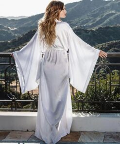 rochie, kimono, rochie plaja, rochie lunga, rochie alba, halat dama, haine, haine dama, unique fashion,