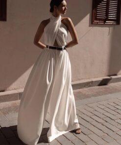 salopeta dama, salopeta alba, salopete dama, salopeta eleganta, haine, haine dama, unique fashion