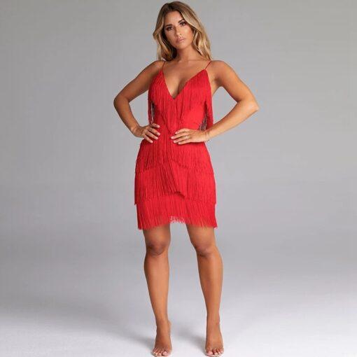 rochie, rochie scurta, rochie rosie, rochie franjuri, rochii, haine, haine dama, unique fashion,