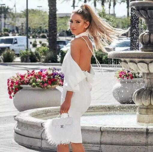 rochie, rochie midi, rochie alba, rochie eleganta, rochii, rochii de ocazie, haine, haine dama, unique fashion,